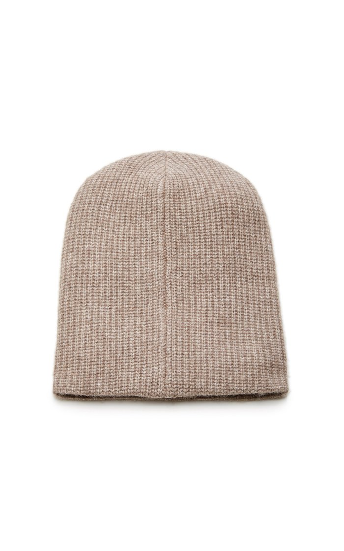 Embroidered Cashmere-Blend Beanie