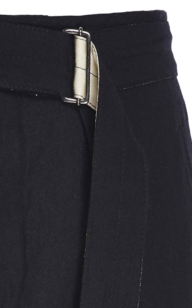 Pedro Belted Cropped Wool-Blend Pants