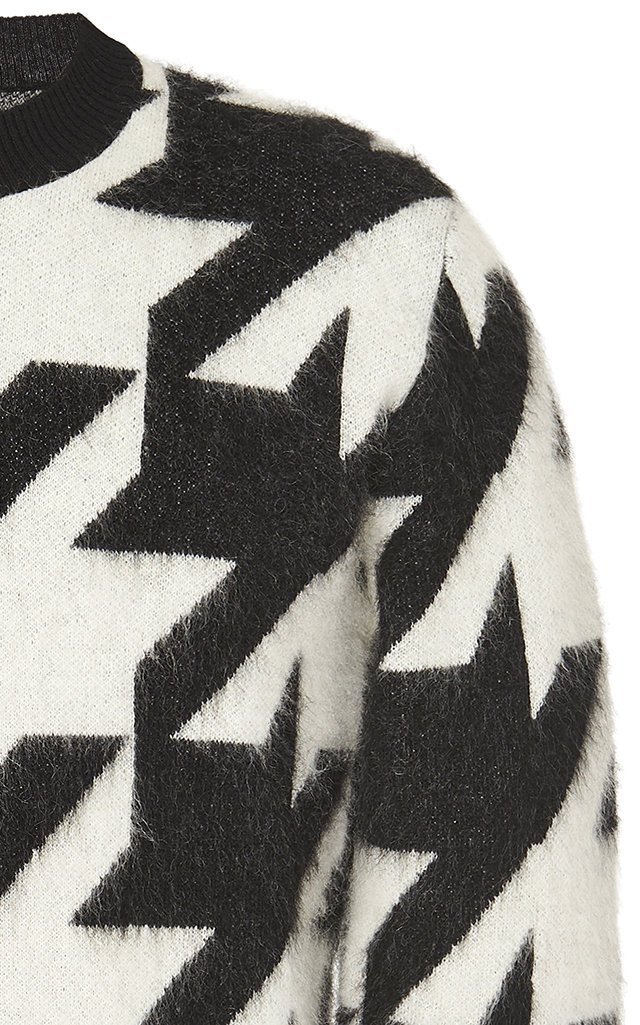 Houndstooth Mohair Sweater