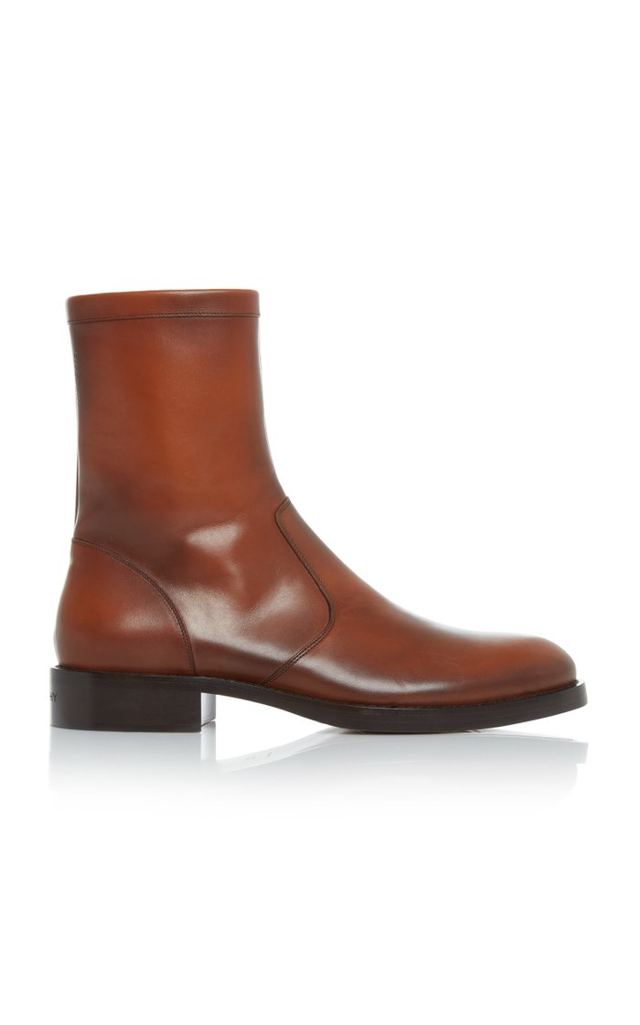 Cruz Zip Up Leather Ankle Boots