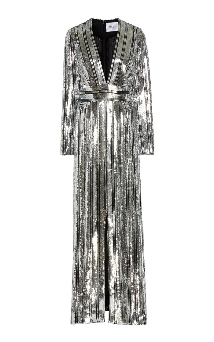 Stardust Sequined Chiffon Gown