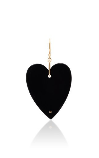 Solo Angèle 18K Rose Gold Onyx Single Earring