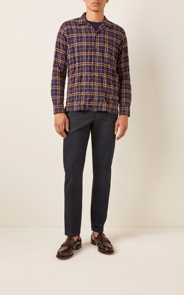 Gemma Plaid Cotton-Poplin Shirt