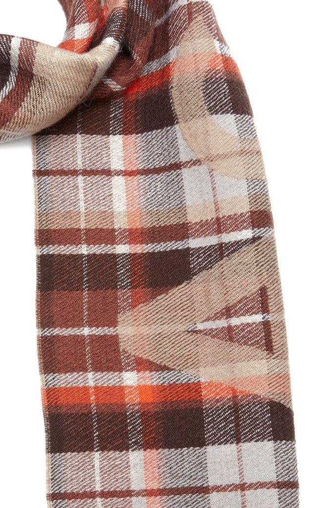 Victoria Plaid Wool Scarf