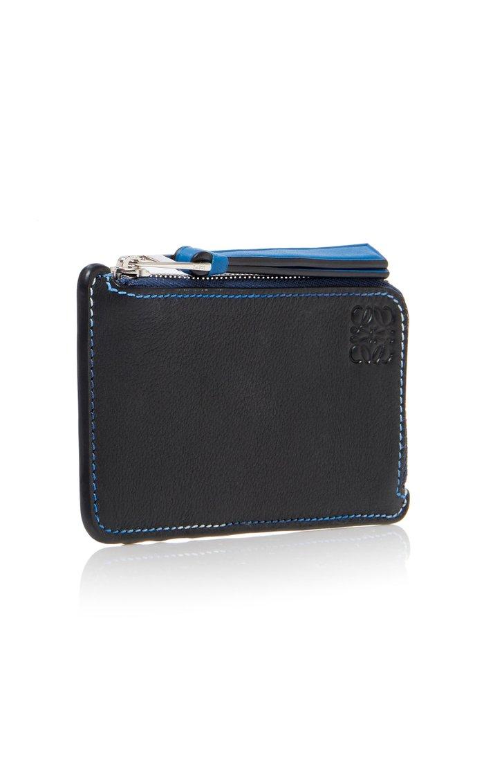 Color-Block Leather Cardholder