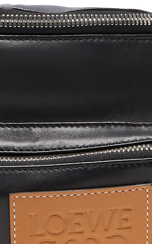 Puffy Bum Two-Tone Leather Belt Bag