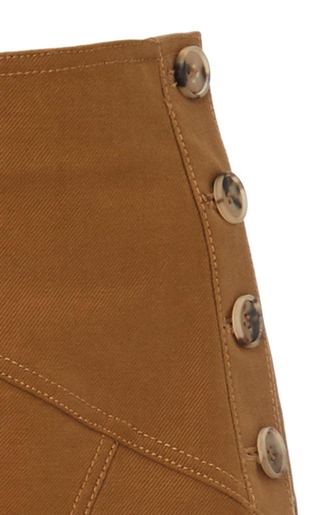Astrid Asymmetric Cotton-Twill Midi Skirt