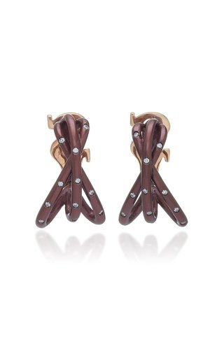 Titanium And Pink Gold  Twinkle Twinkle Earrings