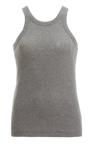 Espera Ribbed Stretch Cotton-Blend Top
