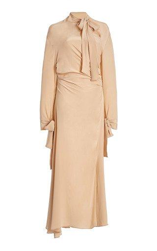Danouck Draped Silk Midi Dress