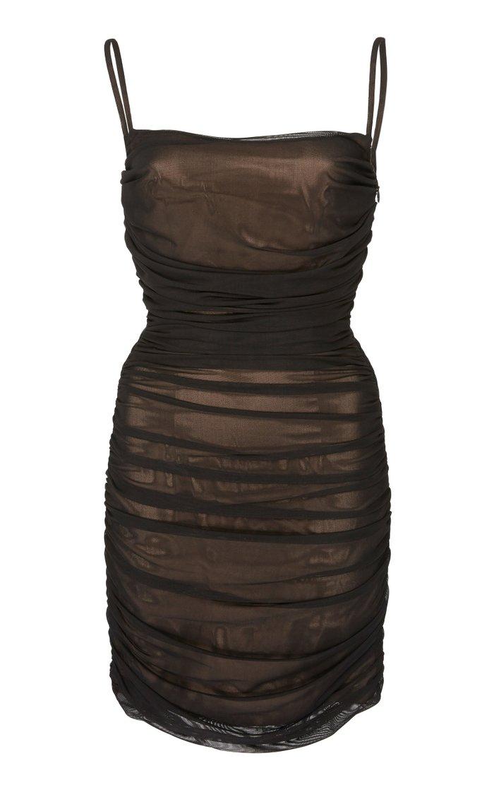 Silk Tulle Mini Dress