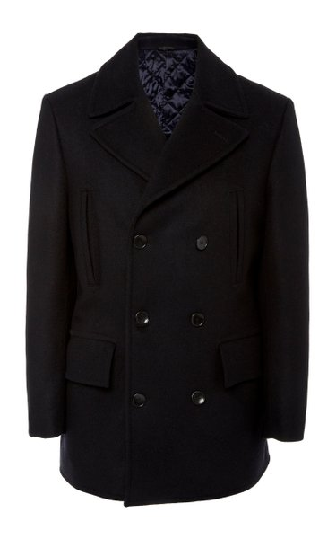 Edward Wool and Cashmere-Blend Peacoat