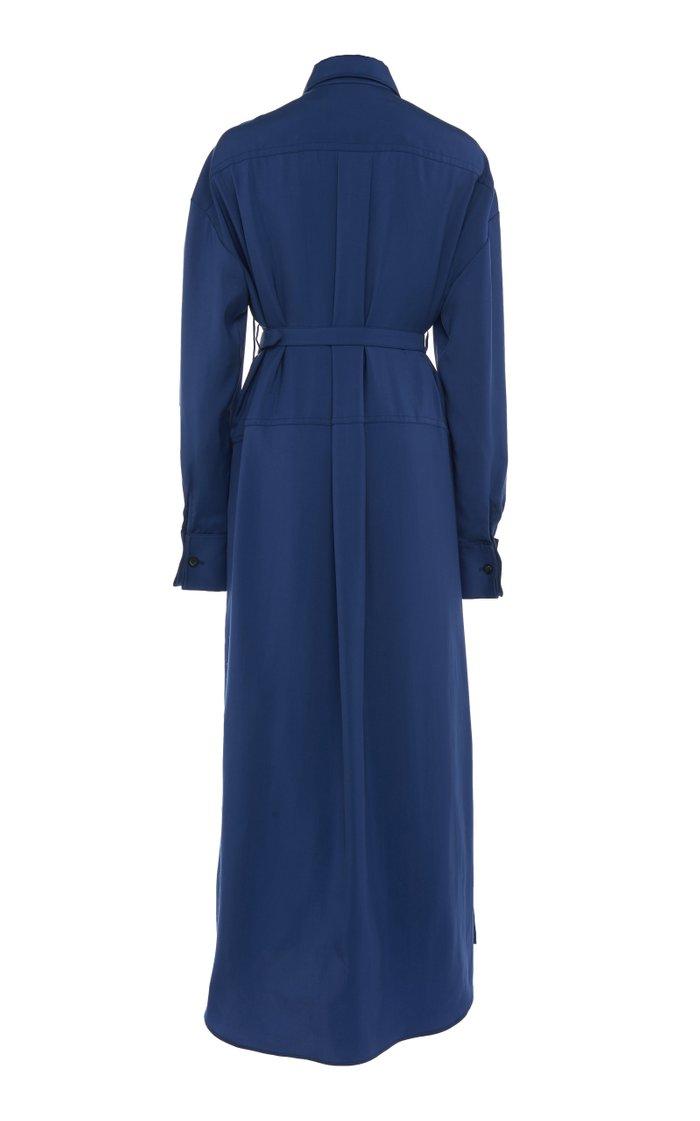 La Robe Valmy Belted Cotton-Poplin Maxi Dress