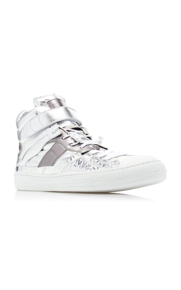 Evolution Metallic Leather Sneakers