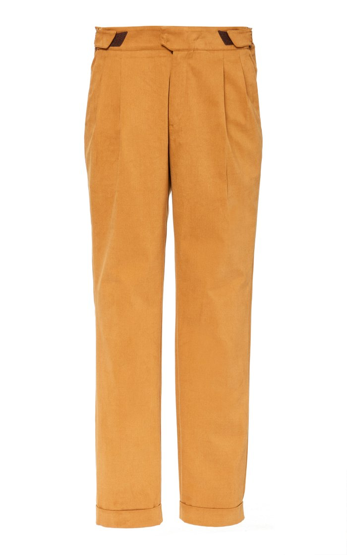High Life Cotton Straight-Leg Pants