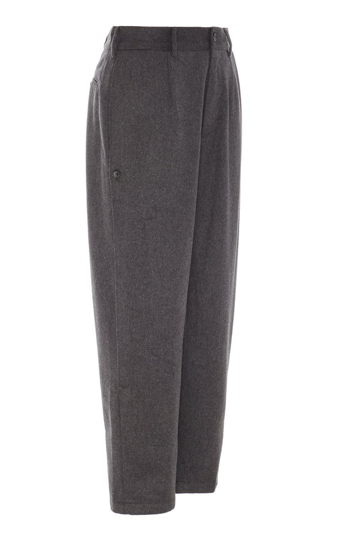 Doug Cropped Wool and Cotton-Blend Pants