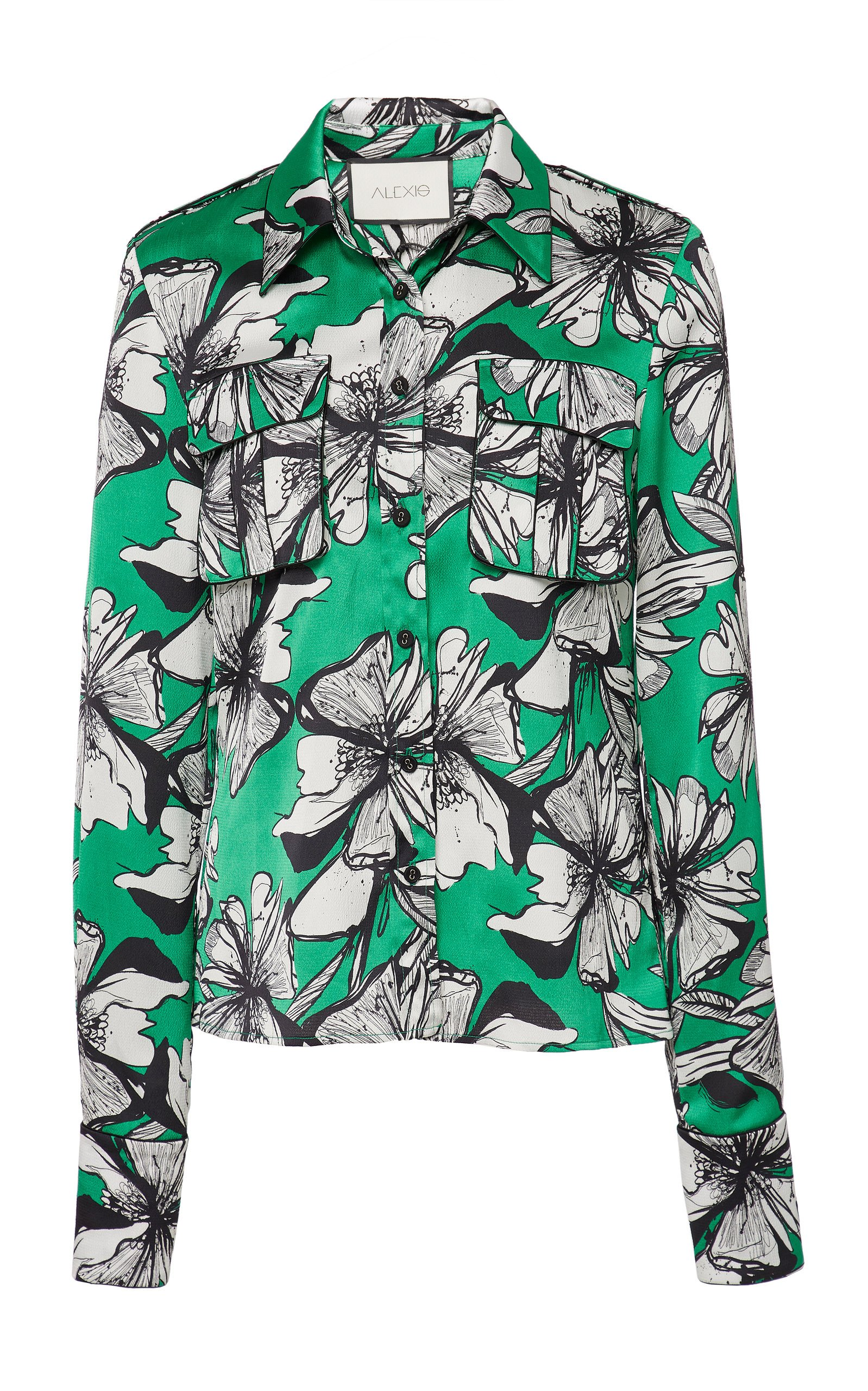 Slyvies Floral Print Satin Shirt By Alexis | Moda Operandi