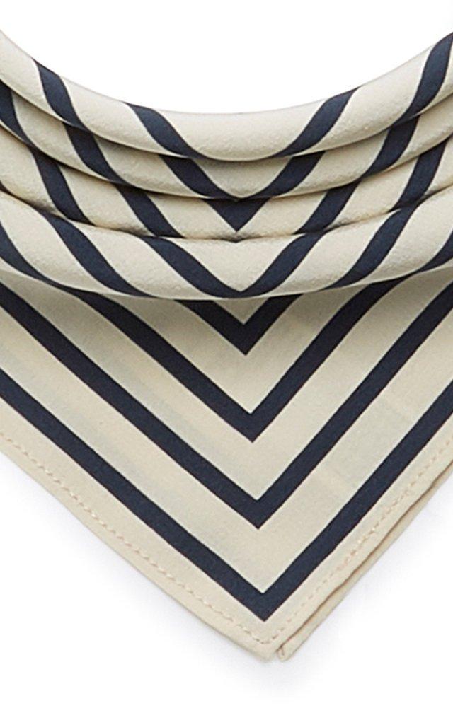 San Remo Striped Silk-Twill Scarf