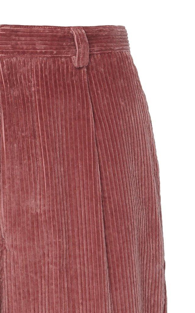 Straight-Leg Cotton Corduroy Pants