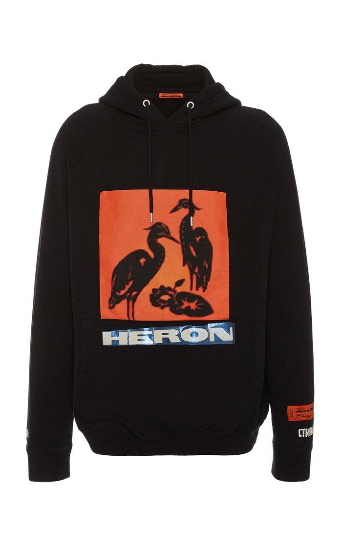 Logo-Embellished Cotton Hooded Sweatshirt