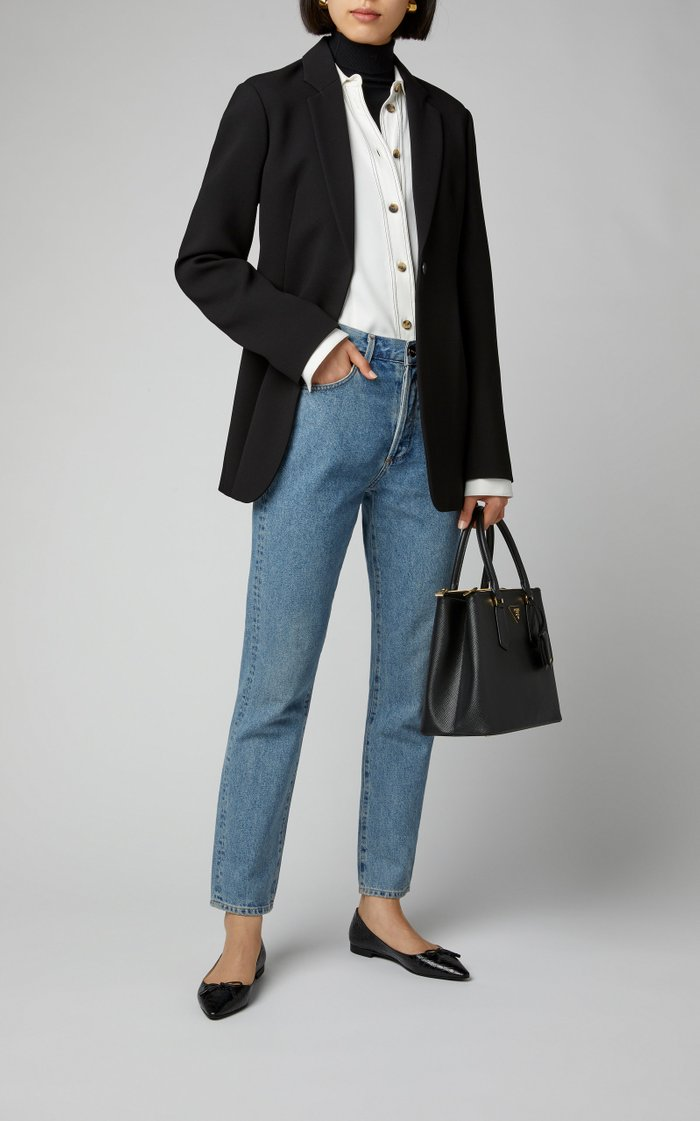 Galleria Medium Textured-Leather Tote