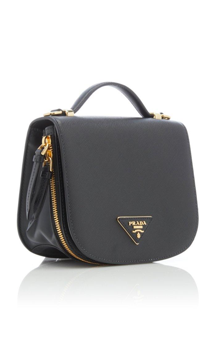 Odette Textured-Leather Backpack