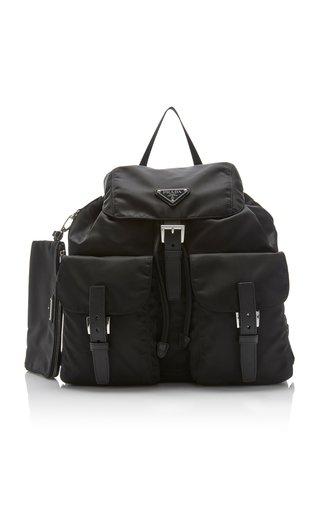 Vela Medium Leather-Trimmed Shell Backpack