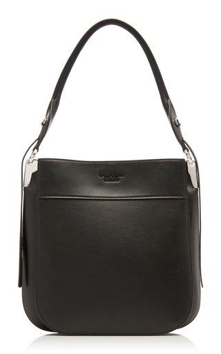 Prada Margit Leather Hobo Shoulder Bag