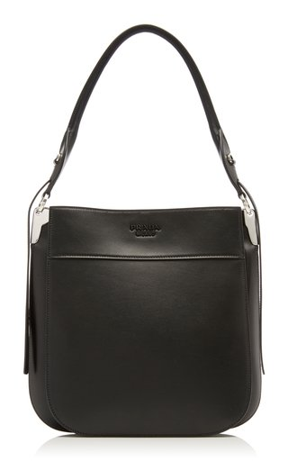 Prada Margit Leather Hobo Shoulder Bag