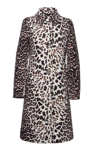 Printed Gabardine Coat