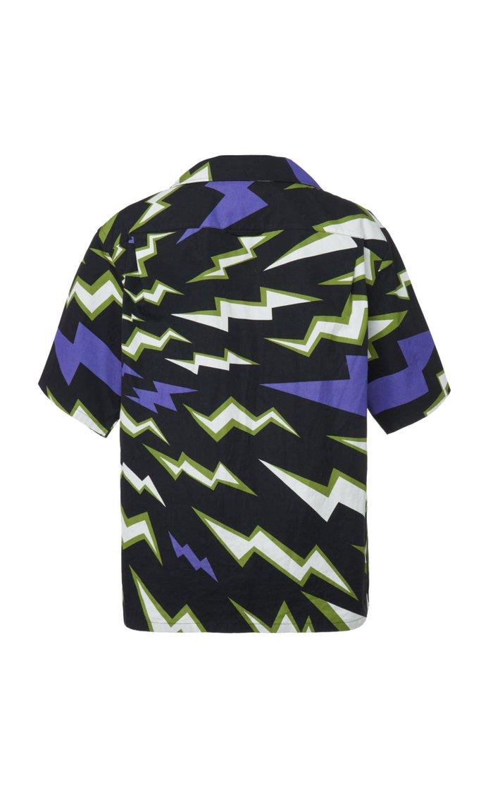 Printed Cotton-Poplin Shirt