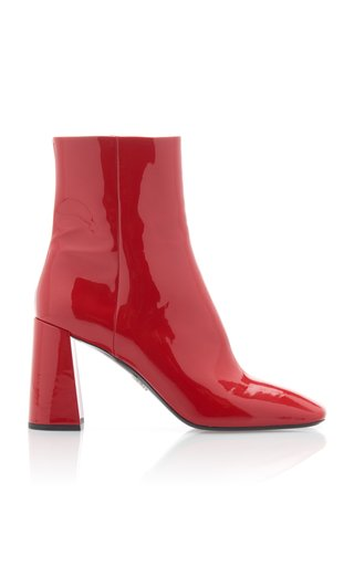 Patent-Leather Ankle Boot