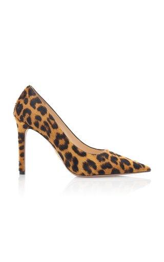 Leopard-Print Calf Hair Pumps
