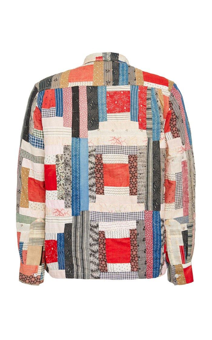 Havana Patchwork Cotton-Poplin Shirt