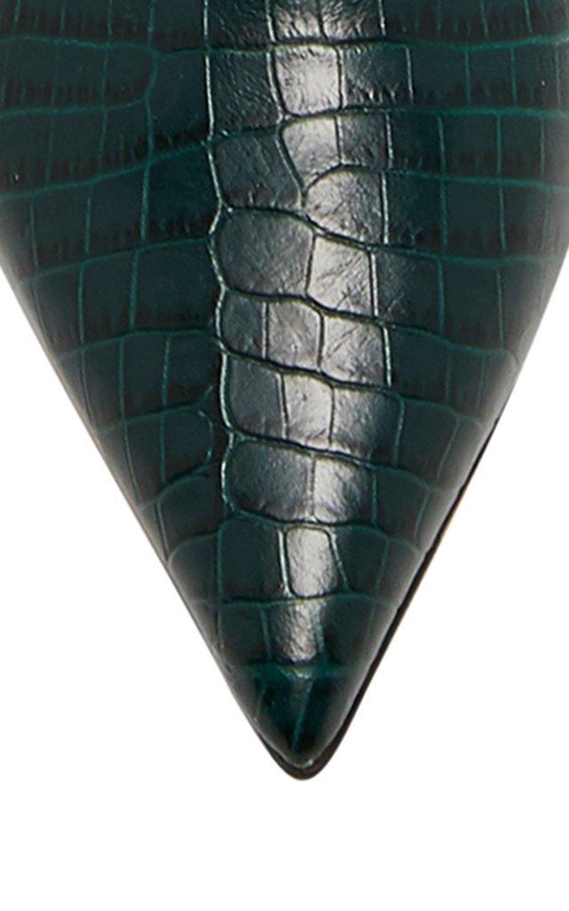 Mavis Croc-Effect Leather Knee Boots
