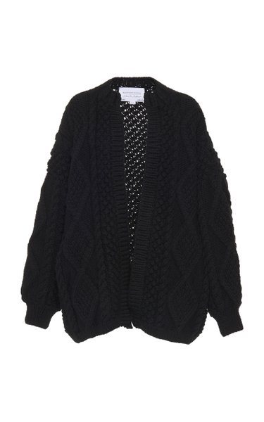 Kim Cable-Knit Wool Cardigan