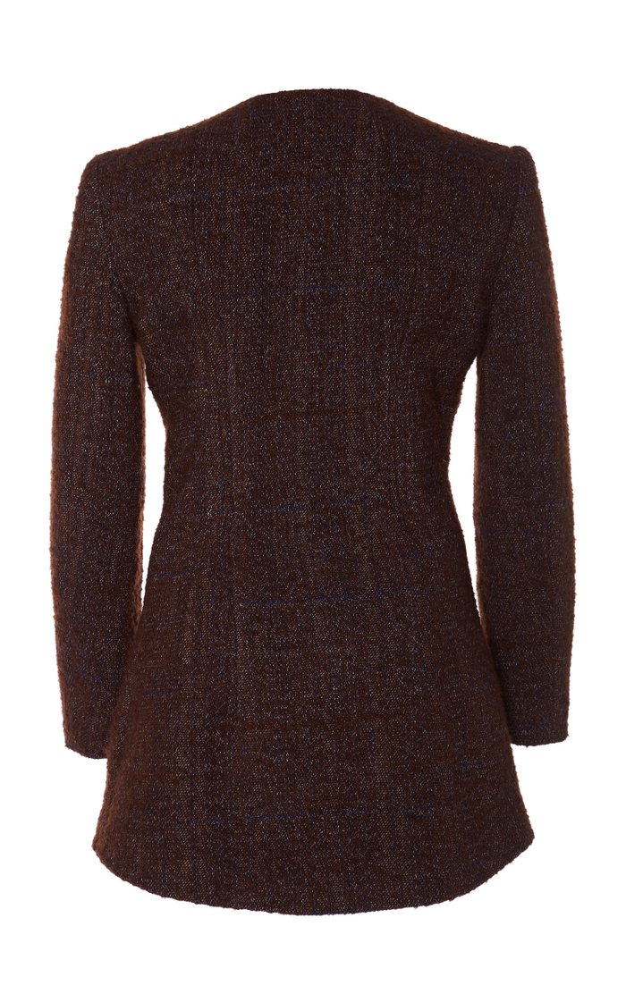 Prince Fitted Single-Breasted Bouclé Jacket
