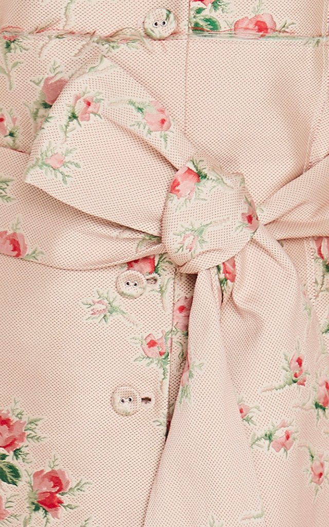 Paoli Floral-Embroidered Duchess Satin Jacket