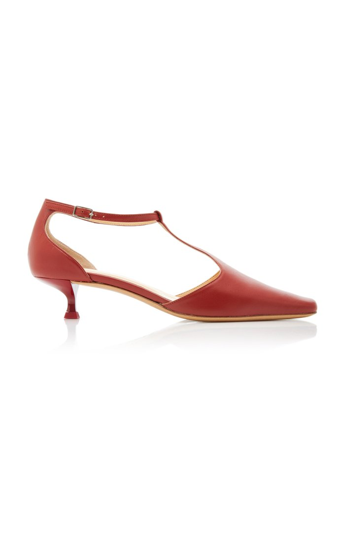 Bella Leather Mary Jane Pumps