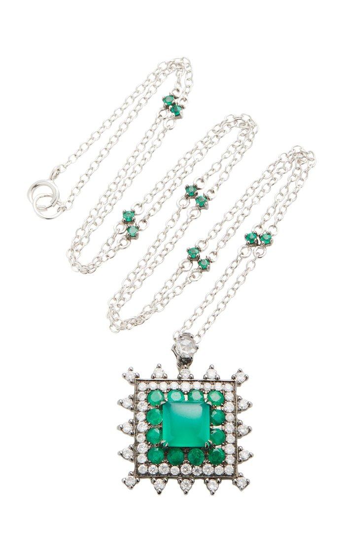 18K Gold Multi-Stone Necklace