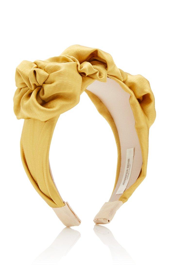 Triple Rosette Hammered Silk Headband