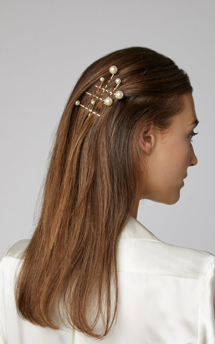 Set-Of-Seven Perla Faux Pearl-Embellished Bobby Pins
