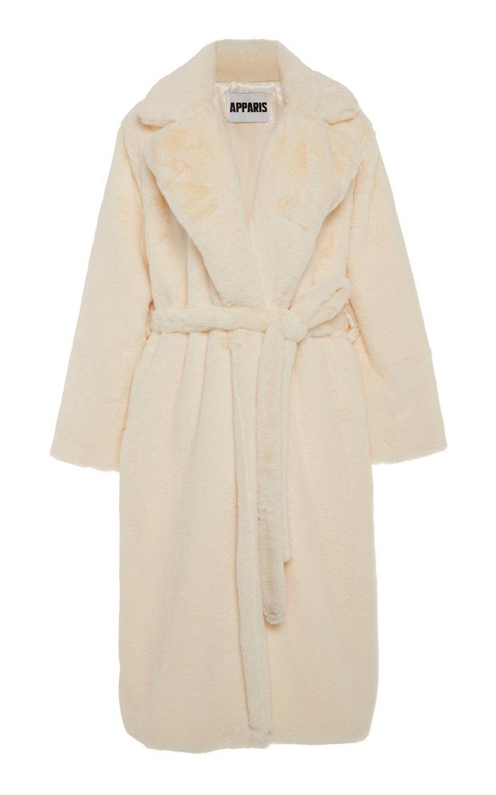 Mona Belted Faux Fur Coat