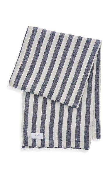 Striped Linen Beach Blanket