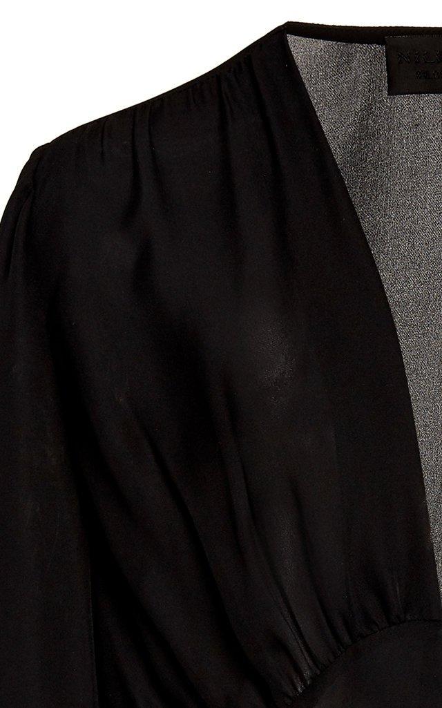 Laila Silk-Chiffon Top