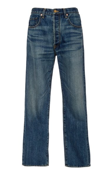 Archer Mid-Rise Straight-Leg Jeans