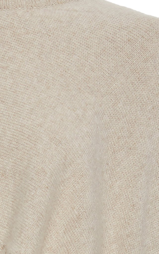 Asymmetric Cape-Effect Cashmere Sweater