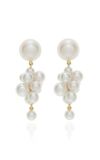 Botticelli 14K Gold And Pearl Earrings