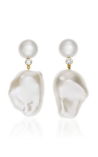 Venus Diamant 14K Gold, Pearl and Diamond Earrings