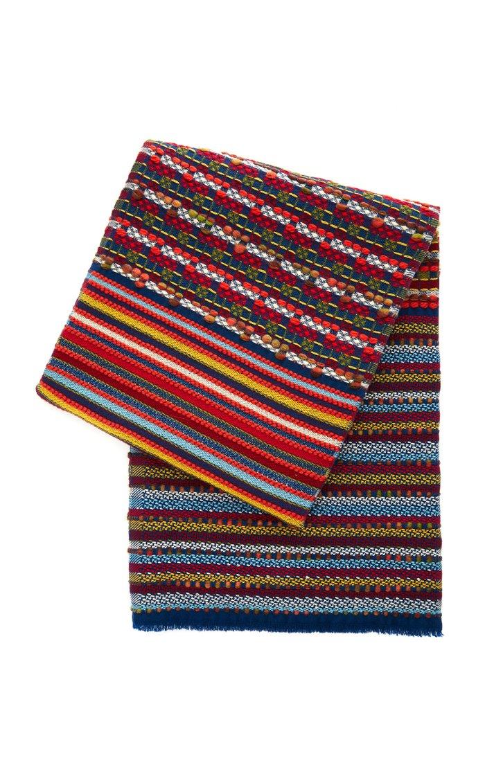 St. Nicholas Striped Wool-Blend Throw